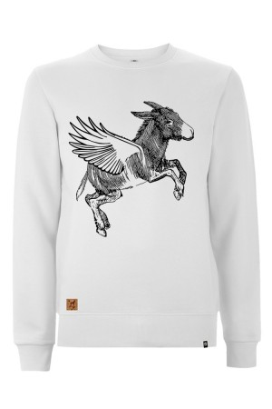 Sudadera NUM wear FLYING unisex color White