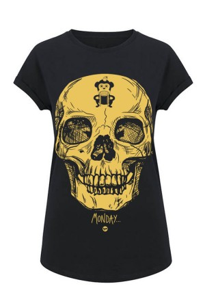 camiseta NUM wear MONDAY mujer color Black