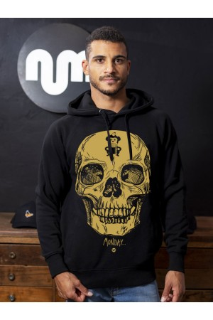 Sudadera Capucha NUM wear MONDAY color Black