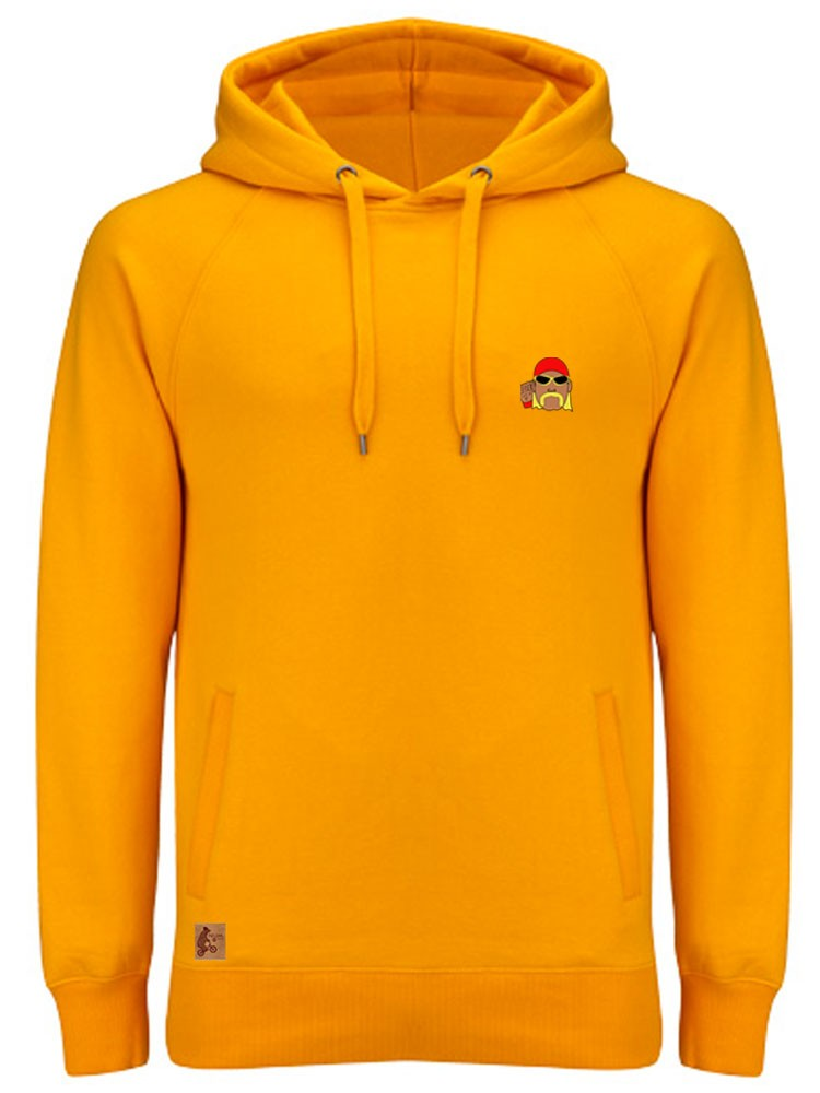 Sudadera Capucha NUM wear HO BORDADO color MUSTARD