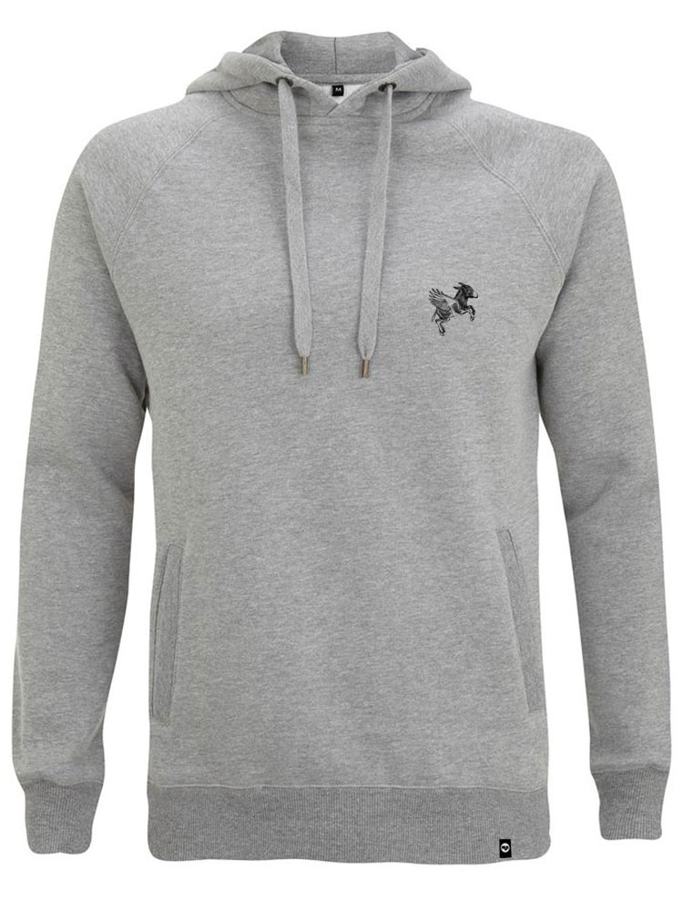 Sudadera Capucha NUM wear FLYING BORDADO color Heather Grey