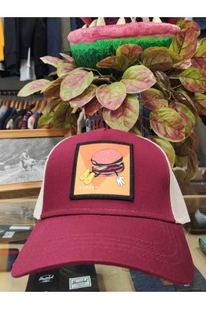 Gorra parche BURGER Burgundy NUM wear