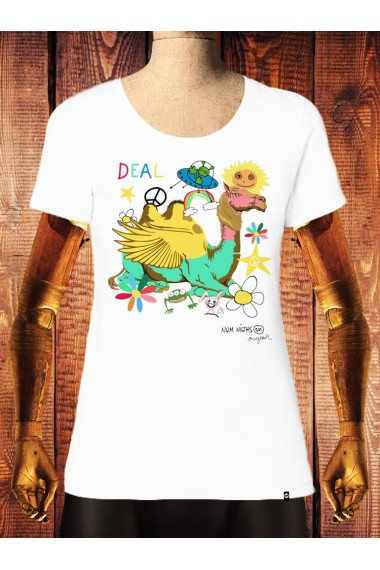 Camiseta NUM wear Mujer DEAL color White