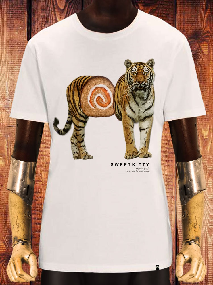 camiseta NUM wear SSWEET KITTY color Off White