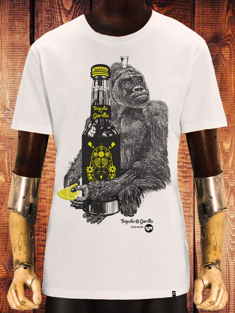 camiseta NUM wear TEQUILA GORILLA color Off White