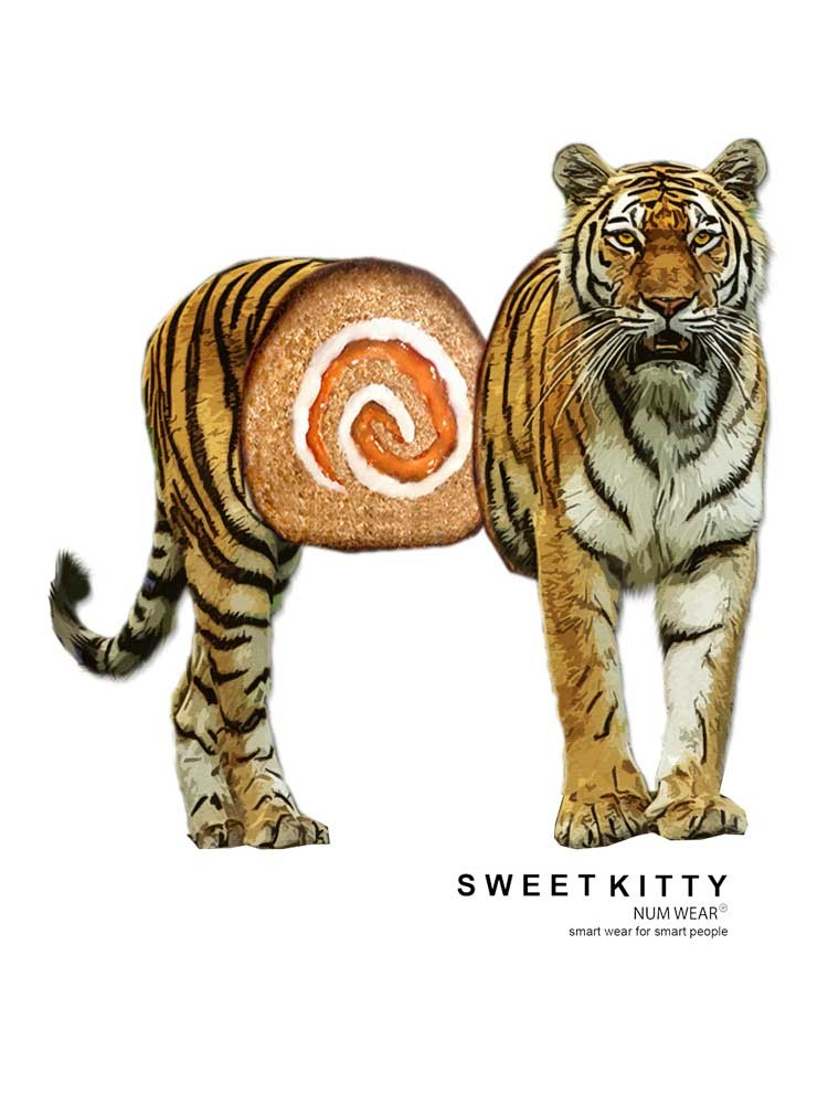 Camiseta NUM wear Mujer SWEET KITTY color White