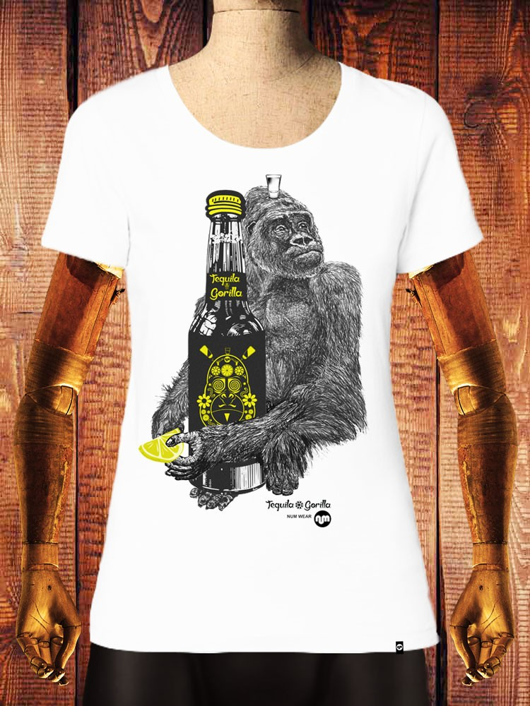 Camiseta NUM wear Mujer TEQUILA GORILLA color White
