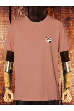 Camiseta NUM wear CAT Bordado hombre color ROSE