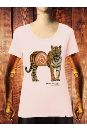 Camiseta NUM wear Mujer SWEET KITTY color Light Pink