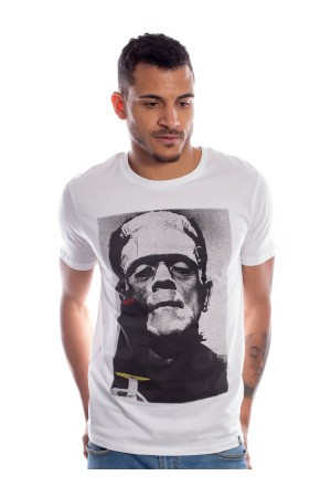 Camiseta NUM wear FRANKIE VS DRAC Hombre color White
