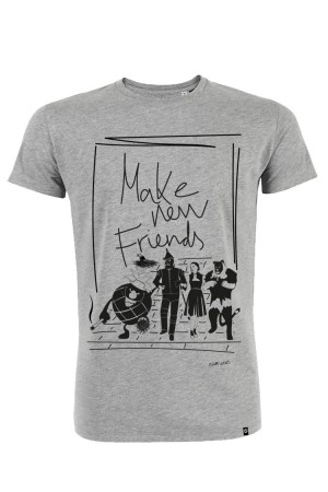 Camiseta hombre NUM wear FRIENDS color Heather Grey