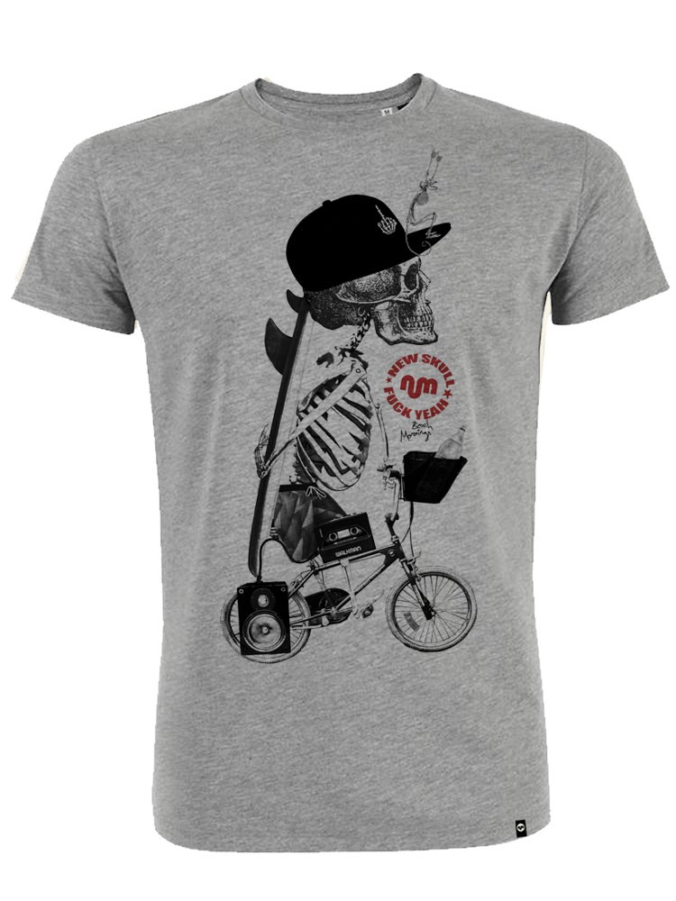 Camiseta hombre NUM wear NEW SKULL color Heather Grey