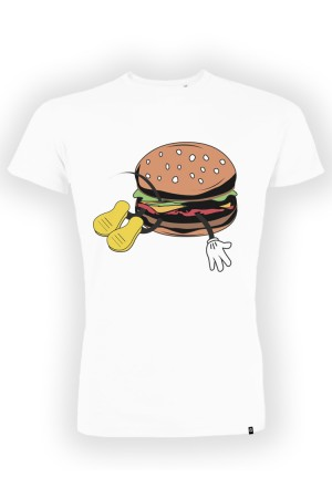 camiseta NUM wear BURGER color White