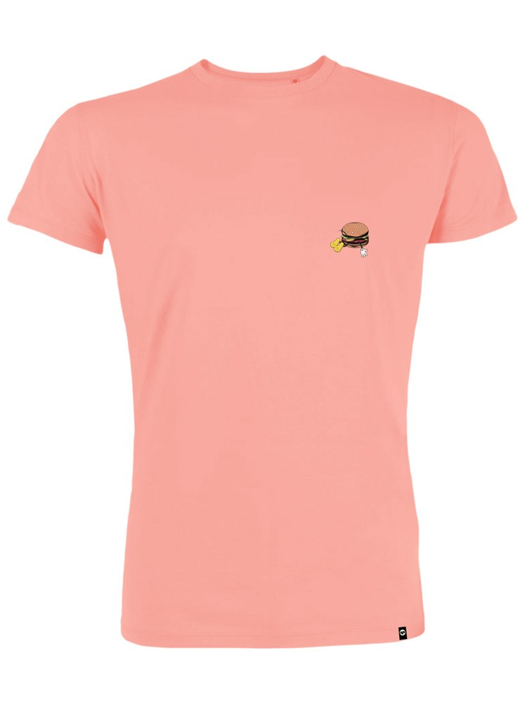 Camiseta hombre NUM wear BURGER Bordado color Coral