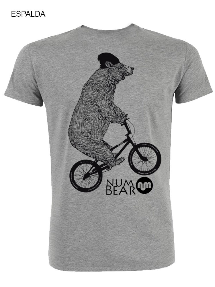 Camiseta NUM wear hombre NUM BEAR 2C color Heather Grey