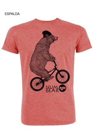Camiseta NUM wear hombre NUM BEAR 2C color Heather Cranberry
