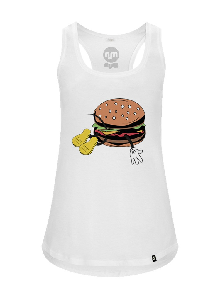 Camiseta NUM wear tirantes mujer BURGER color White