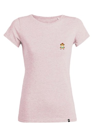 Camiseta NUM wear Mujer CRAZY MONKEY BORDADO color Heather Pink