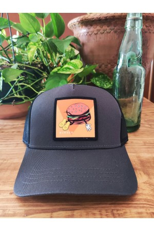 Gorra parche BURGER Dark Grey NUM wear